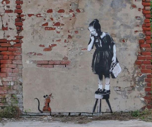 Banksy gets tagged